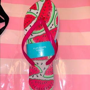 NWT Women's Watermelon Flip Flops Sz M 8/9